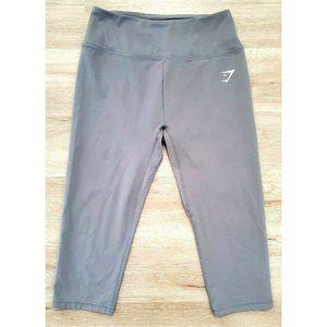 Gymshark Womens Training Cropped Gray Leggings M